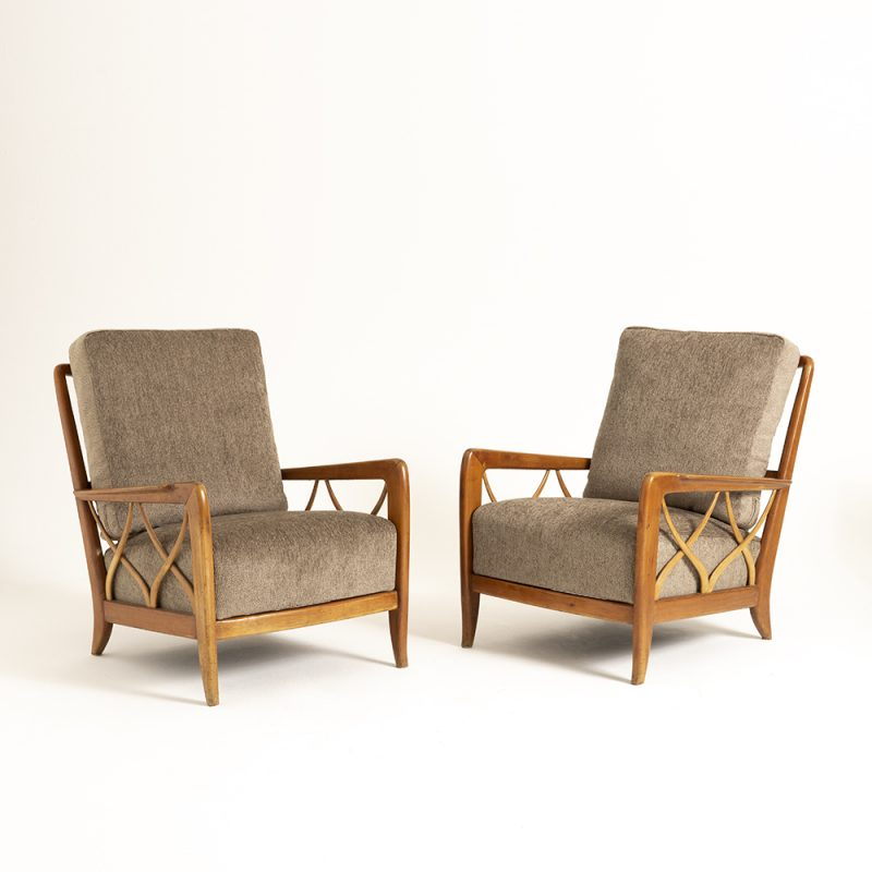 Pair Paulo Buffa 1950s Italian chairs