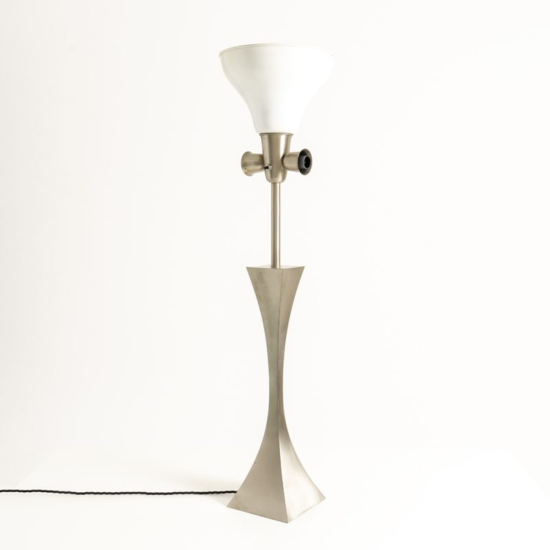 1960s Italian Gallo and Tonello chrome table lamp