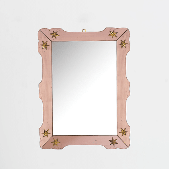 1940s French mirror attributed to Jaques Adnet