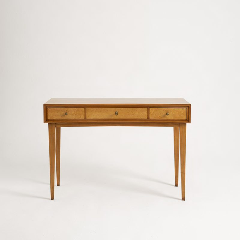 1950s Italian cherry wood desk