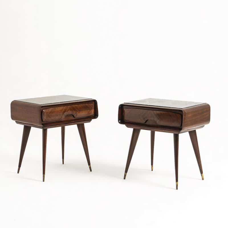 Pair 1960s Italian bedside Tables