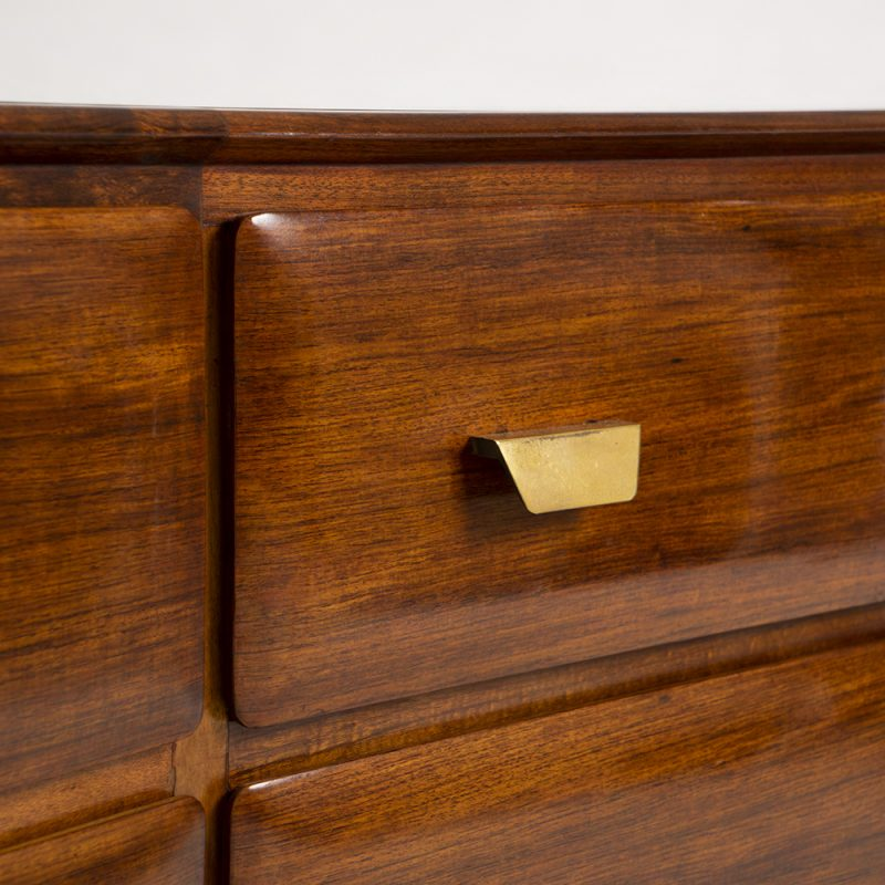 1906s Italian rosewood chest of drawers