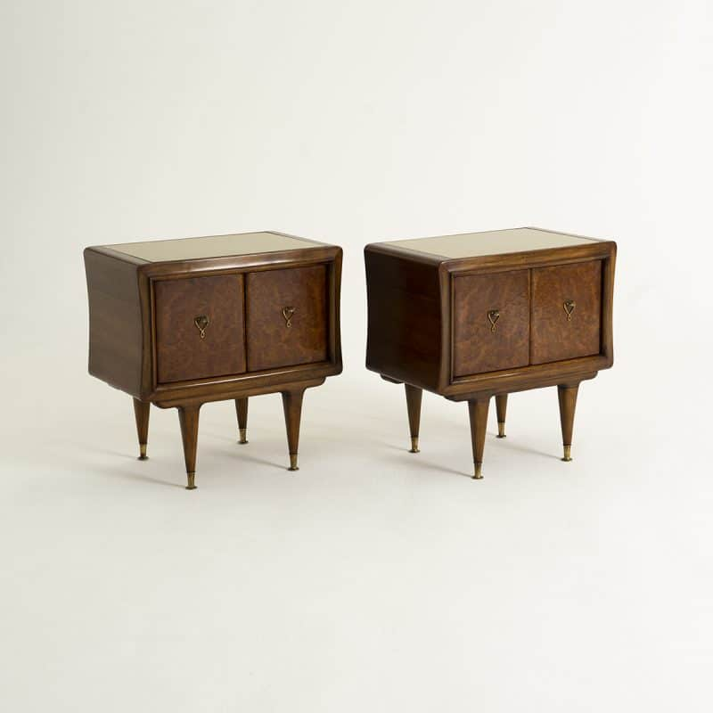 1940s Pair of Italian Side Cabinets