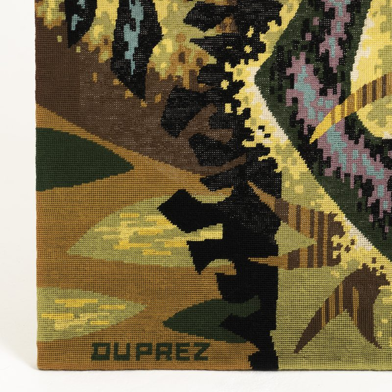1960s Handwoven Tapestry by Jean Claude Duprez