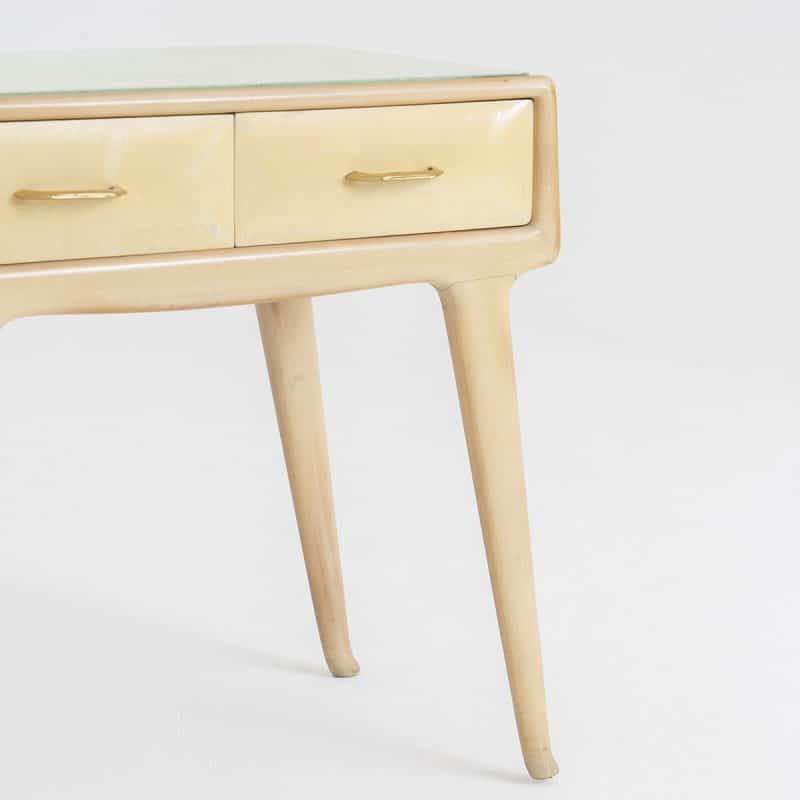 1940s Parchment fronted Italian side tables