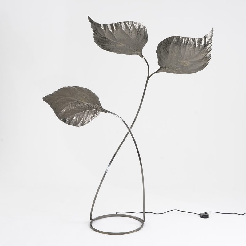 1970s steel floor lamp by Carlo Giorgi for Milan Studio Bottega Gadda