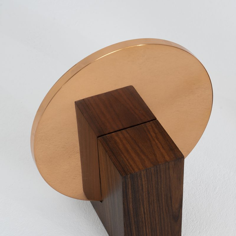 1970s Copper and rosewood sculptures