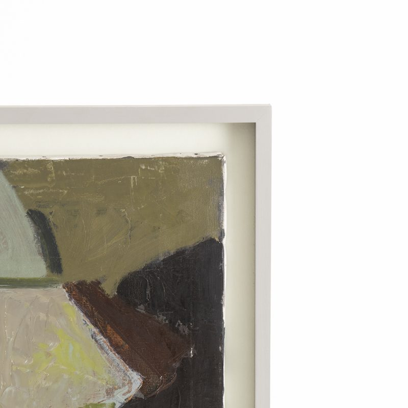 framed abstract oil painting, signed by the artist, 1967