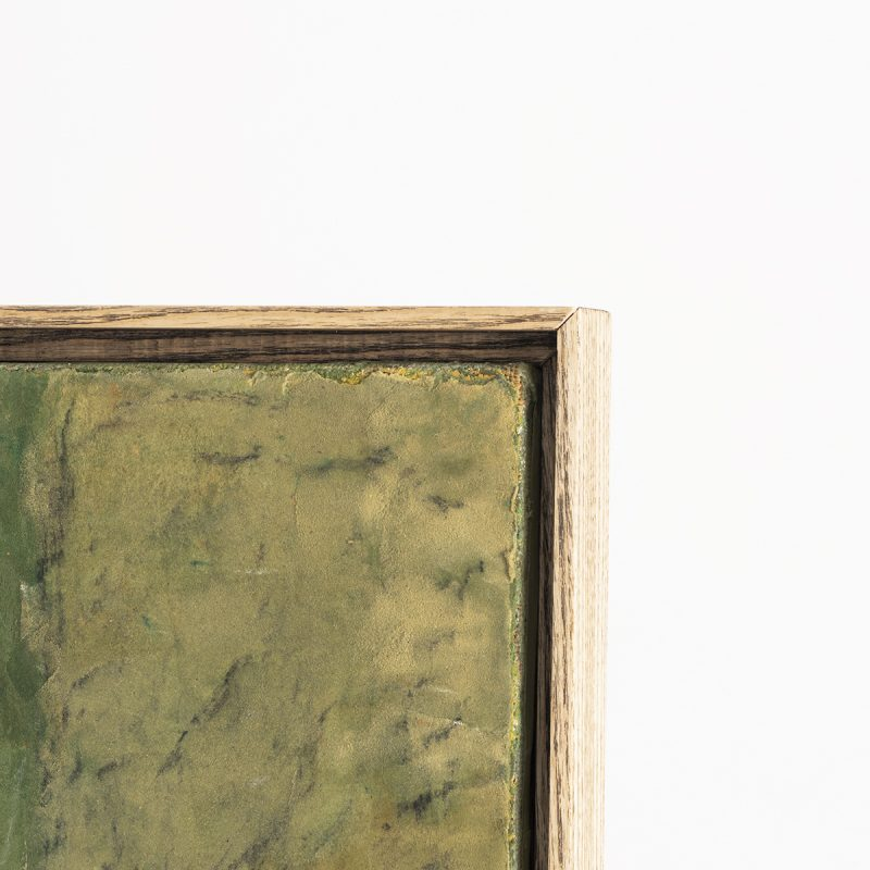 framed abstract painting by Zumstein, 1962-63