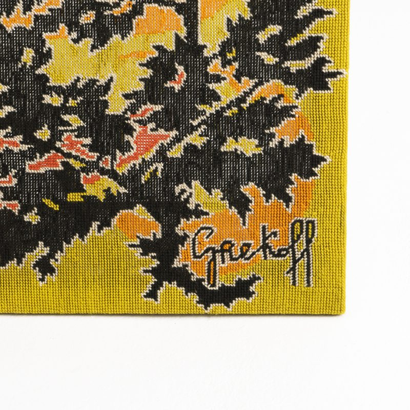 1960s French tapestry signed Grekoff