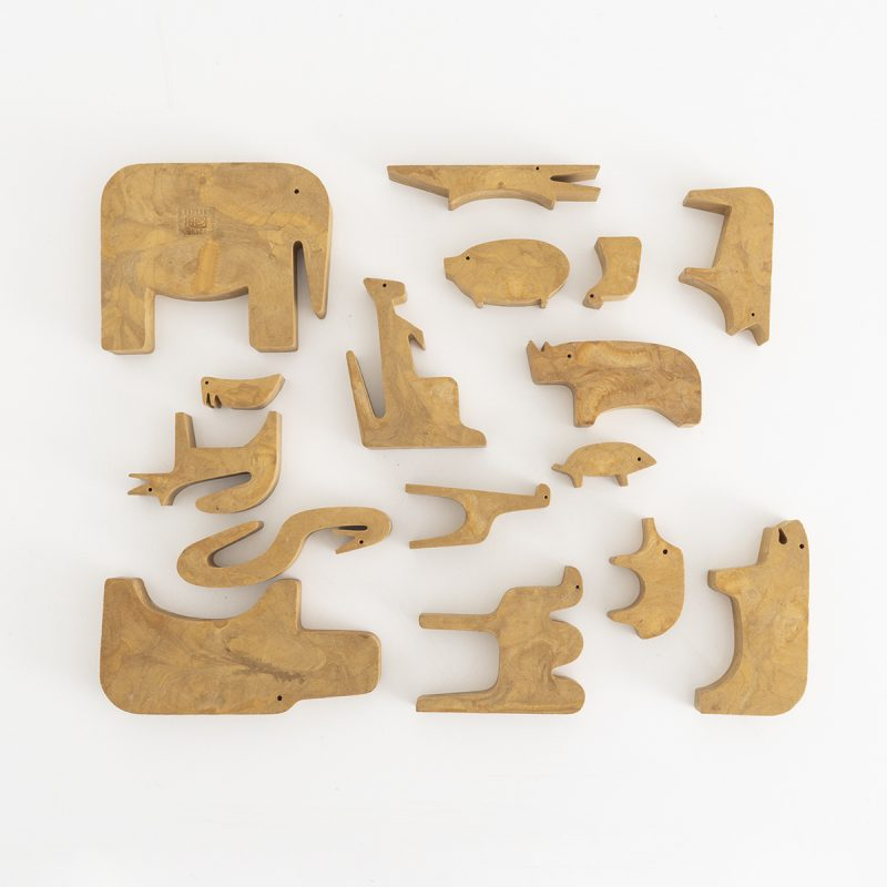 '16 Animali' puzzle by Enzo Mari 1st edition of limited series, 1957