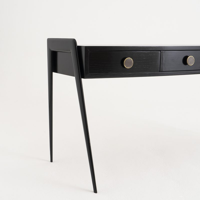 1950s Italian ebonised dressing table or console