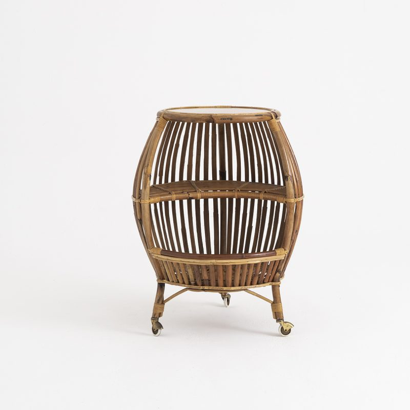 1960s rattan bar / side table