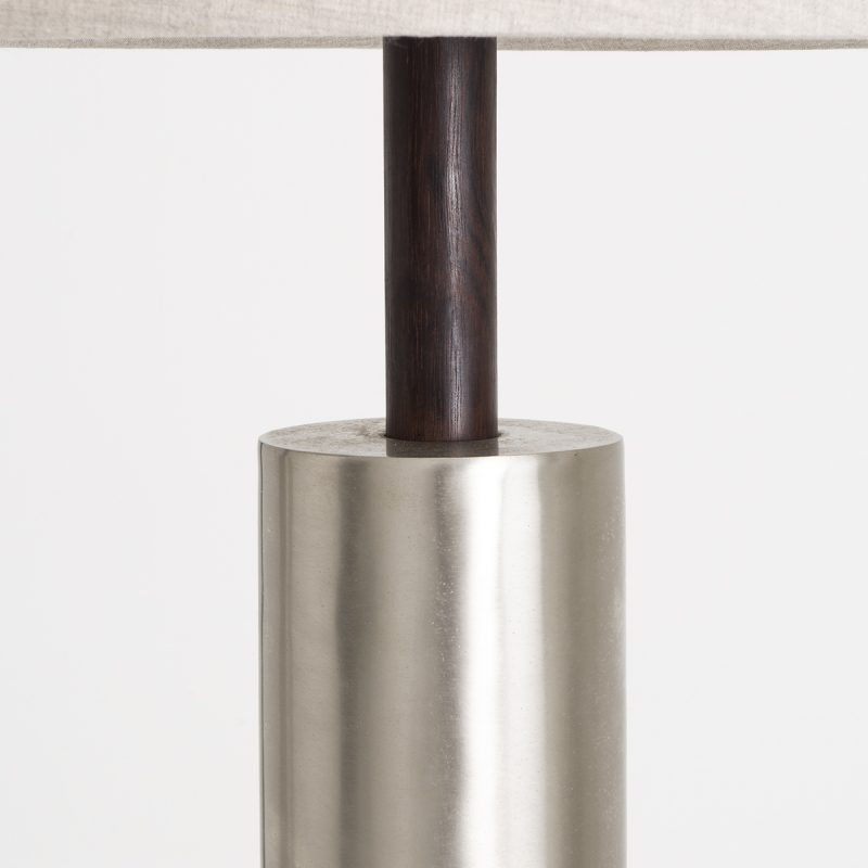 1970s US rosewood and brushed nickel lamps