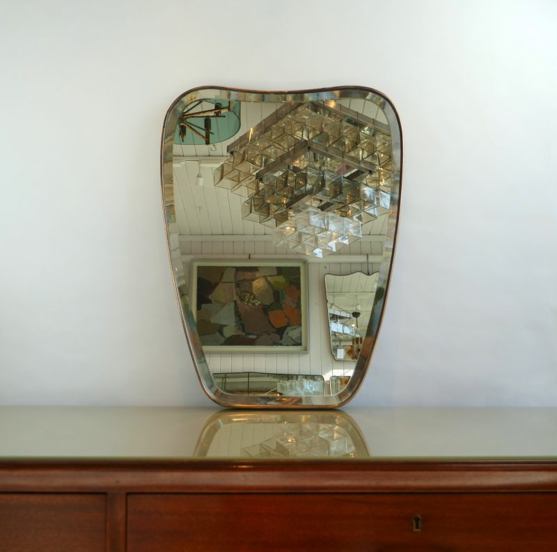 1950s Italian Mirror with bevelled glass edge