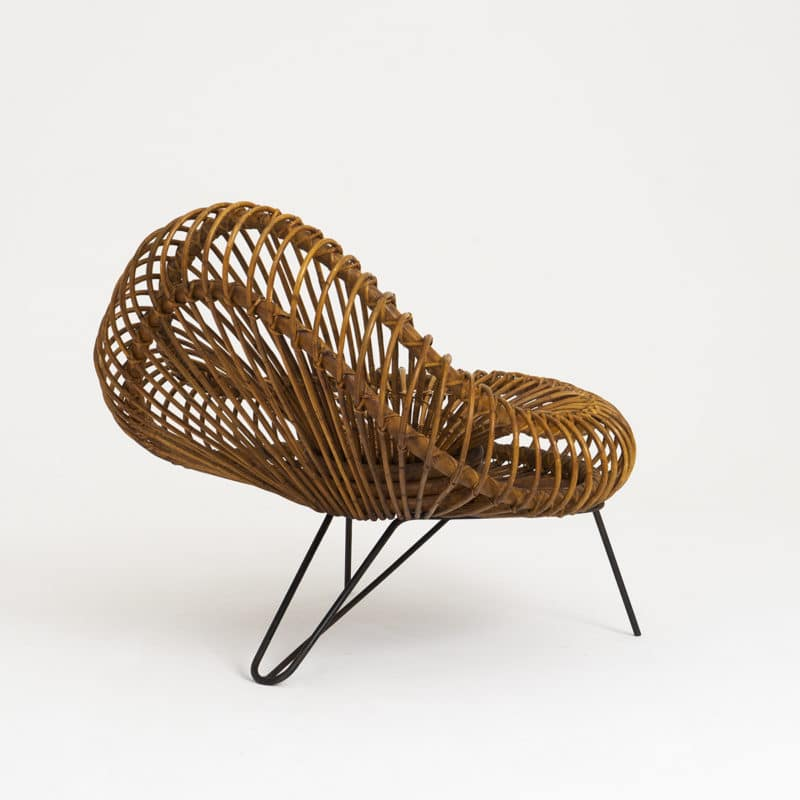 Pair 1950s Rattan Chairs by Janine Abraham & Dirk Jan Rol
