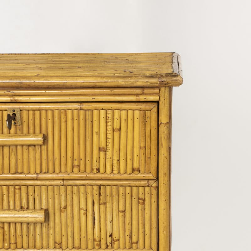 1960s French rattan chest of drawers